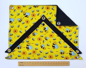 Set of 3 Rat Hammocks (bees on yellow/black)