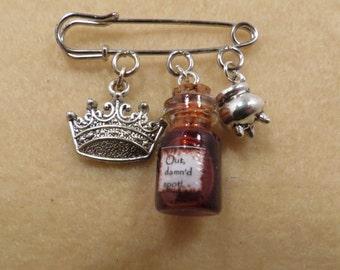 Shakespeare Macbeth kilt pin brooch (38mm)