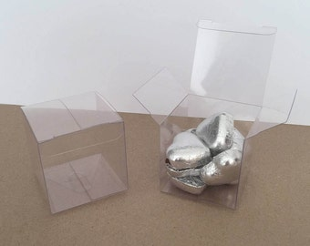 Clear Acetate Square Boxes x 10