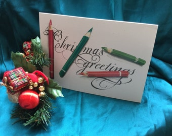 Christmas card - pencils