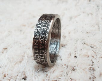 France Coin Ring - 25 Centimes - Rings from Coins - French jewelry - French coin ring