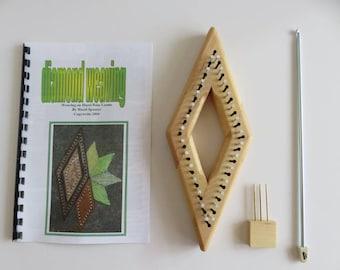 """Hazel Rose Loom Kit - Diamond - 3.5"""" - Maple"""