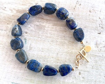 Lapis Lazuli ZEN Bracelet - Serenity, Peace, Truth - Throat (5th) Chakra - ZEN Positive Energy Jewelry