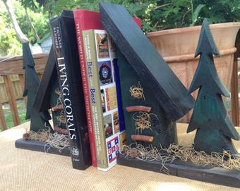 Rustic Book End Set,  Woodworking by Sniffwhiskers