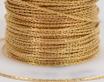 Fine Beading Chain - Gold Plated - .78mm Links - CH22-GP - Choose Your Length