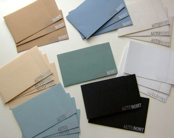 Letterpress Note Card Sets