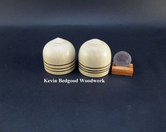 Box boxes Lidded Container Wedding Ring American Holly wood, jewelry stash