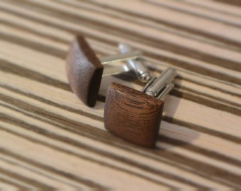 ZaTeKo walnut wood cufflinks