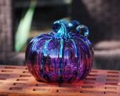 Purple Blown Glass Pumpki...