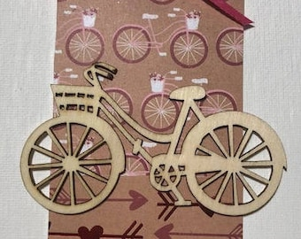 Bicycle Valentines Gift Tag