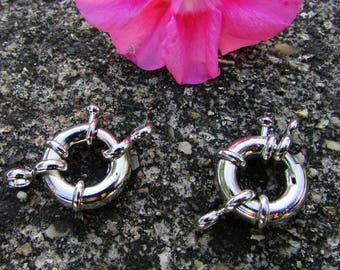 X 3 large rings clasp silver 35 mm.