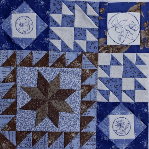 Blueberry Botanical Quilt Block of the Month Block 7
