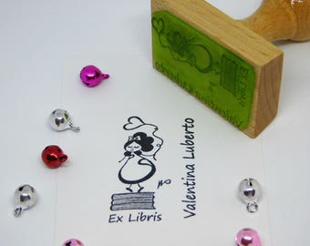 Stamp ex Libris with illustrations by Valentina Luberto