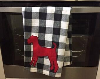 Airedale Welsh Lakeland Terrier Embellished Tea Towel