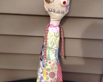 Handmade monster rag doll