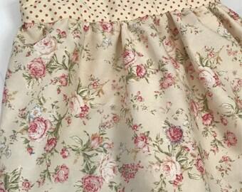 Pretty spring floral poka dot dress