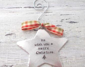 Christmas Star Ornament, Star Ornament, Christmas Ornament, Christmas Star, Personalized Star Ornament, Custom Star Ornament, Holiday Star