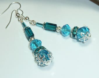 """""""turquoise Silver"""" Silver earrings jewelry"""