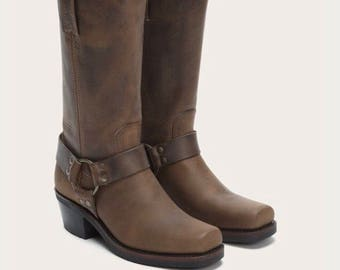 SUPER SALE! Brand new Frye tan Harness buckle boots 8.5 Brand New #7730