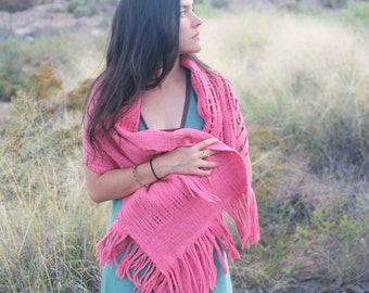 Colors From Nature - Modern Heirloom Handwoven and Felted Sculptural Scarf - Naturally Dyed Merino
