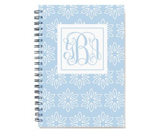 2018 18 month planner with monogram, Start any month,  Personalized weekly planner, 2018 2019 month customizable planner, SKU: epi whtflm