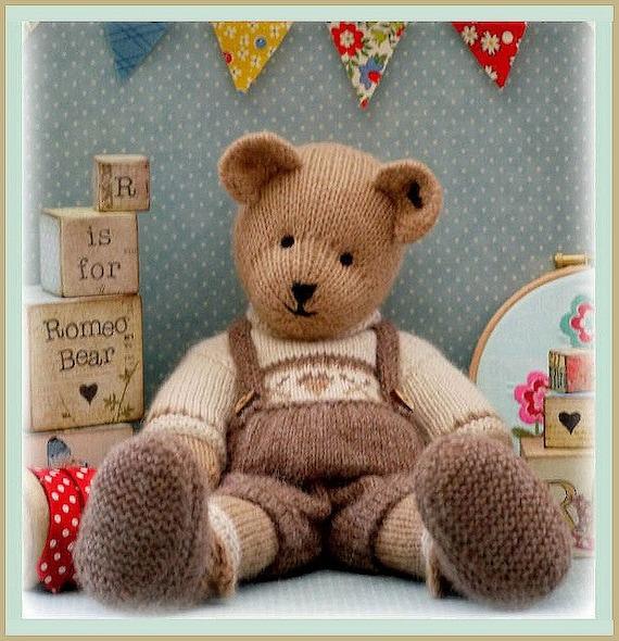 Romeo Bear Teddy Bear Toy Knitting Pattern Pdf Plus Free