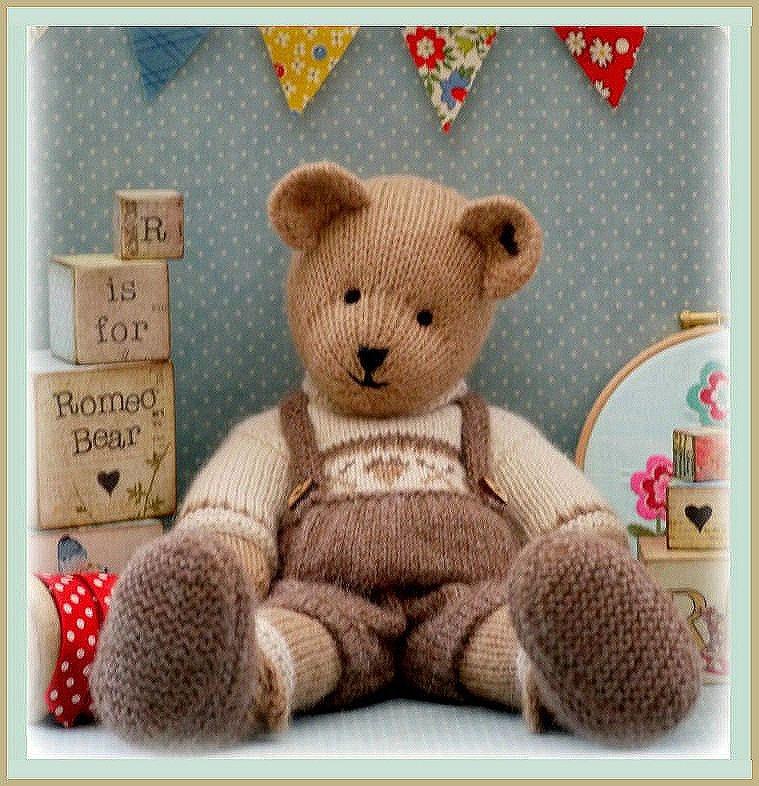 ROMEO Bear / Teddy Bear Toy Knitting Pattern/ PDF/ Plus Free ...