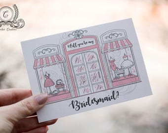Will You Be My Bridesmaid Card, Will You Be My Maid of Honor Card, Funny Bridesmaid Card, Funny Bridesmaid Proposal