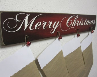 Stocking Holder - Christmas Stocking Holder - Christmas Decor - Stocking Hanger - Christmas Stocking Hanger -  Stocking Wall Hanger