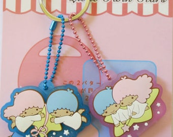 Kawaii Little Twin Stars Key Cap Cover / Key Chain Holder