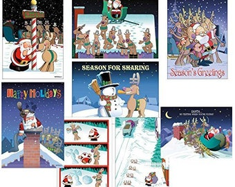 Funny Christmas Card Variety Pack 24 Cards & 25 Envelopes - 85