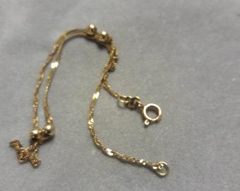 14k Gold Ball Ankle Bracelet