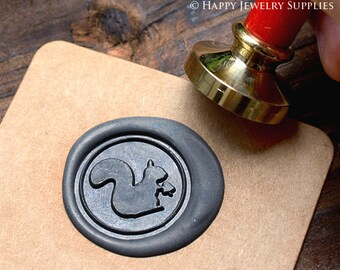 Buy 1 Get 1 Free - 1pcs Squirrel Gold Plated Wax Seal Stamp (WS038)