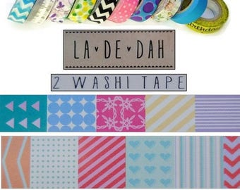 "Set of 2 rolls of washi tape 1 ""La De Dah"" decor scrapbooking (ref.110) *."