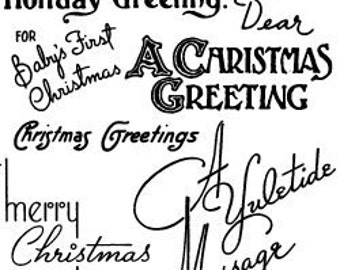 """Christmas Greetings - Christmas Wishes // Clear stamps pack (4""""x7"""") FLONZ"""