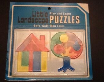 1960's dime store little landscape puzzle.