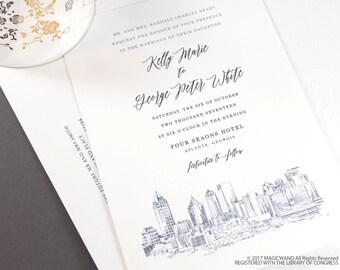 Skyline invitation Etsy