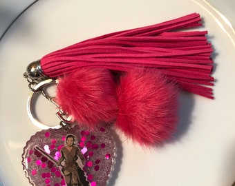 Star Wars Rey Resin Keychain Purse Charm