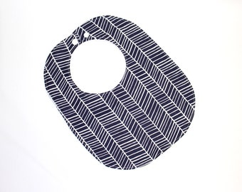Baby Herringbone Bib, Infant, Toddler, Navy Baby Bib, Girl, Boy, Drool, Dribble, Baby Bibs