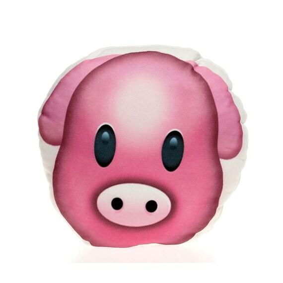 Pig Pillow Emoji Pillow Pig Face Pink Pillow Fun Gift Emoji