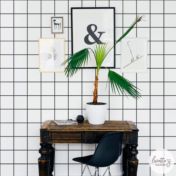 papier peint salle de bain lavable avec jeu de dames de peler. Black Bedroom Furniture Sets. Home Design Ideas