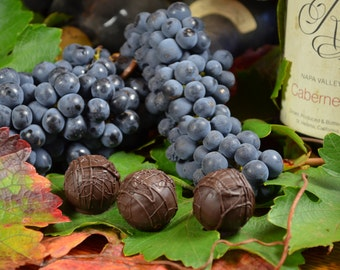 Wine Truffles, Cabernet, Chocolate and Wine, Dark Chocolate, Truffles, Wine Chocolates, Gifts for Her, Gifts for Him, Hostess Gift