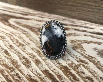 White Buffalo Turquoise Ring sz. 6.25