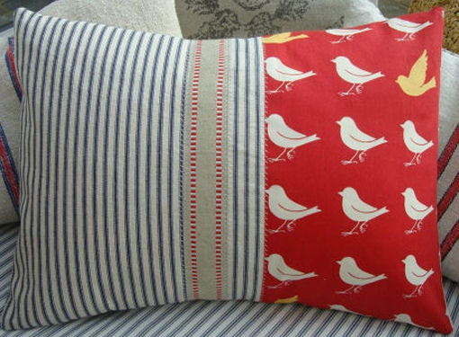 French Cottage Pillow by Sassy Cat Creations