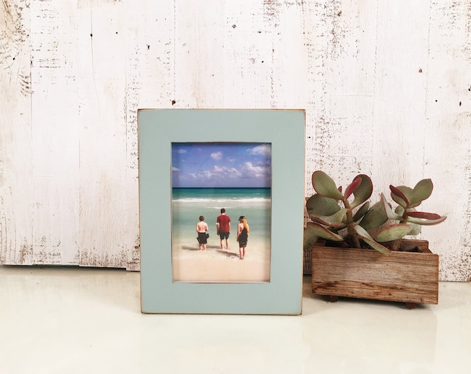"""5x7"""" Picture Frame in 1.5 Standard Style with Vintage Homestead Green Finish - IN STOCK - Same Day Shipping - 5 x 7 Photo Frame"""
