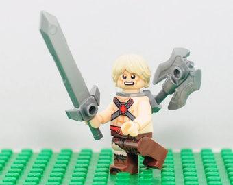 He-Man Custom minifigure (Lego Compatible) Masters of the Universe Prince Adam Skeletor Castle Grayskull Eternia DC Comics Christmas Gift