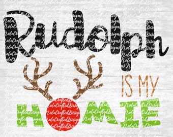 Reindeer Svg Cut Life - Rudolph Svg Cut File - Rudolf Svg - Rudolf Png - Rudolf Cut file - Christmas Svg - Christmas Png - Cut file