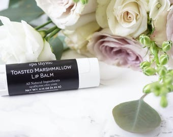 Toasted Marshmallow Lip Balm | Chapped lips | Smooth | Natural | Wholesale | Relax | Natural gift | Wedding