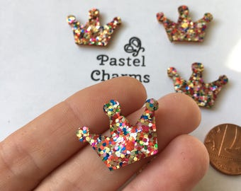 Pack of 10 felt small crown embellishments