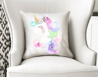 Unicorn Pillow, Unicorn Cushion, Unicorn Gift, Unicorn, Unicorn Decor, Unicorn Nursery Decor, Unicorn Nursery, Decorative Pillow, Girl Gift
